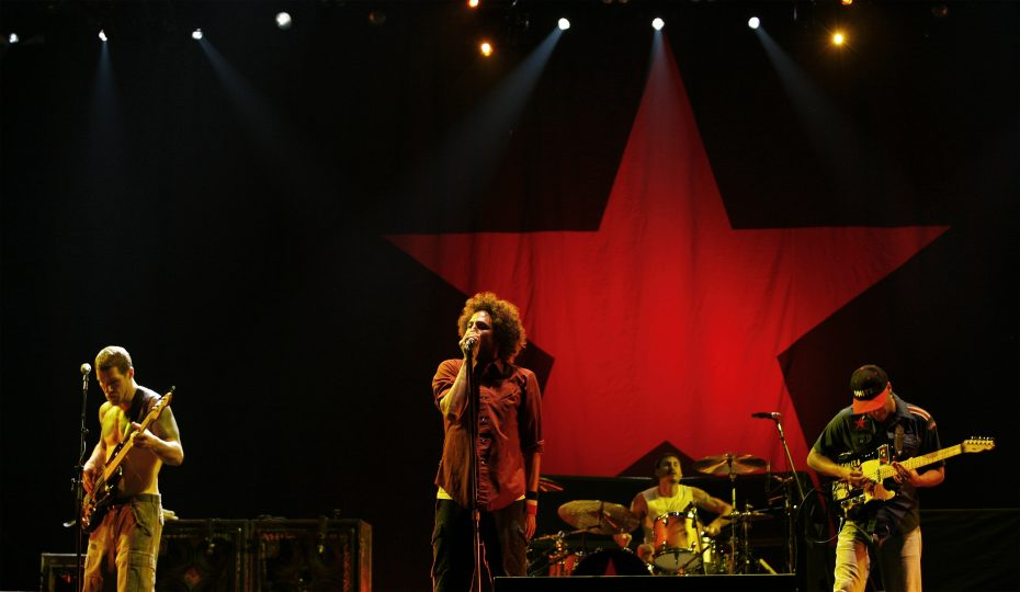 Rage Against The Machine perform during the Rock The Bells Festival in New York July 28, 2007. REUTERS