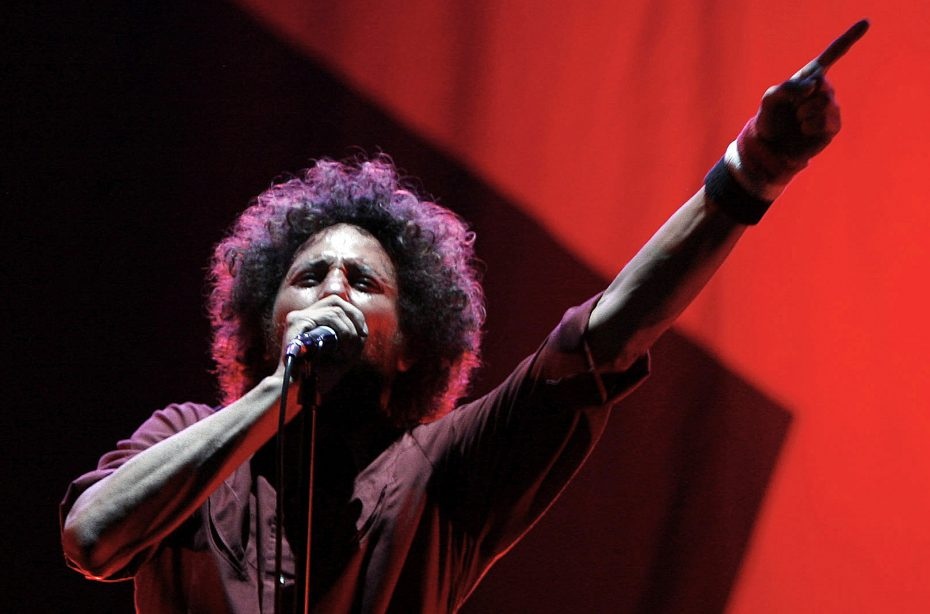 Zack de la Rocha performs with Rage Against The Machine during the Rock The Bells Festival in New York July 28, 2007. REUTERS