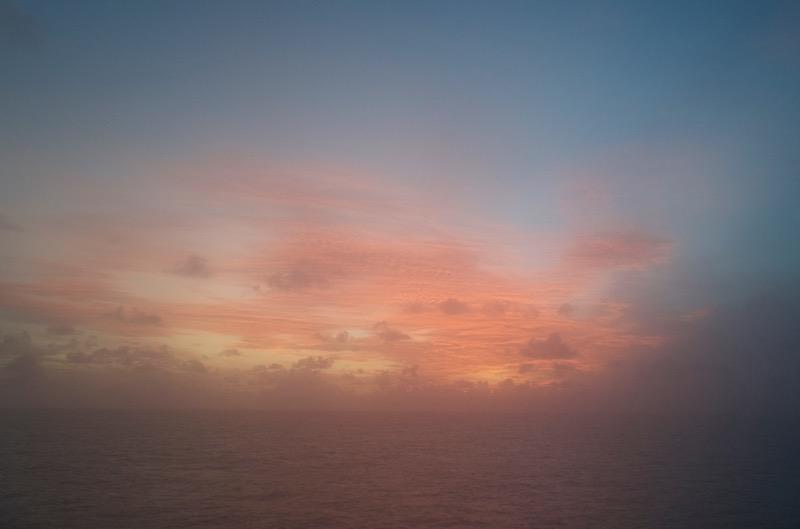 Sunset, July 1, 2016, east of Sri Lanka.
