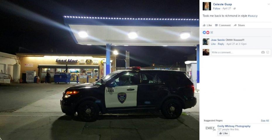 'Celeste Guap' said officers gave her favors in exchange for sex, such as tipping her off about sex worker raids. (FACEBOOK)