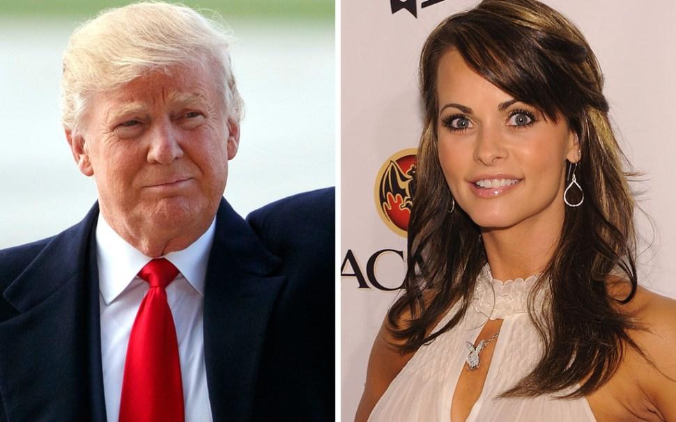 Donald Trump and former Playboy model Karen McDougal, via WSJ