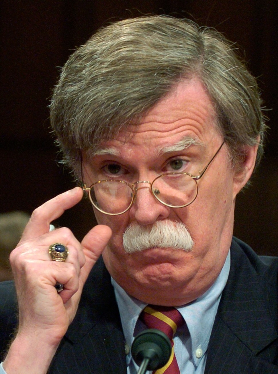 John Bolton testifies before the Senate Foreign Relations Committee in Washington, 2006. REUTERS/Jonathan Ernst