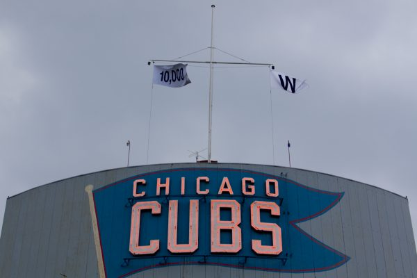 Flying the W at Wrigley Field for the win.