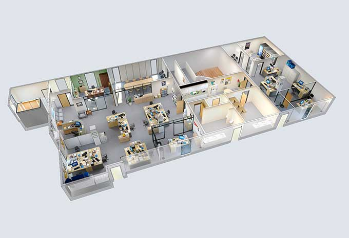 Explore This 3d Model Of Dunder Mifflin From The Office Boing Boing