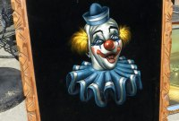 Clown black velvet painting, photo by Rusty Blazenhoff