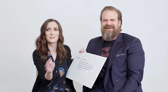Stranger Things' Winona Ryder & David Harbour answer the