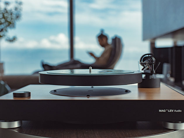 This levitating turntable plays your records in mid-air | Boing Boing