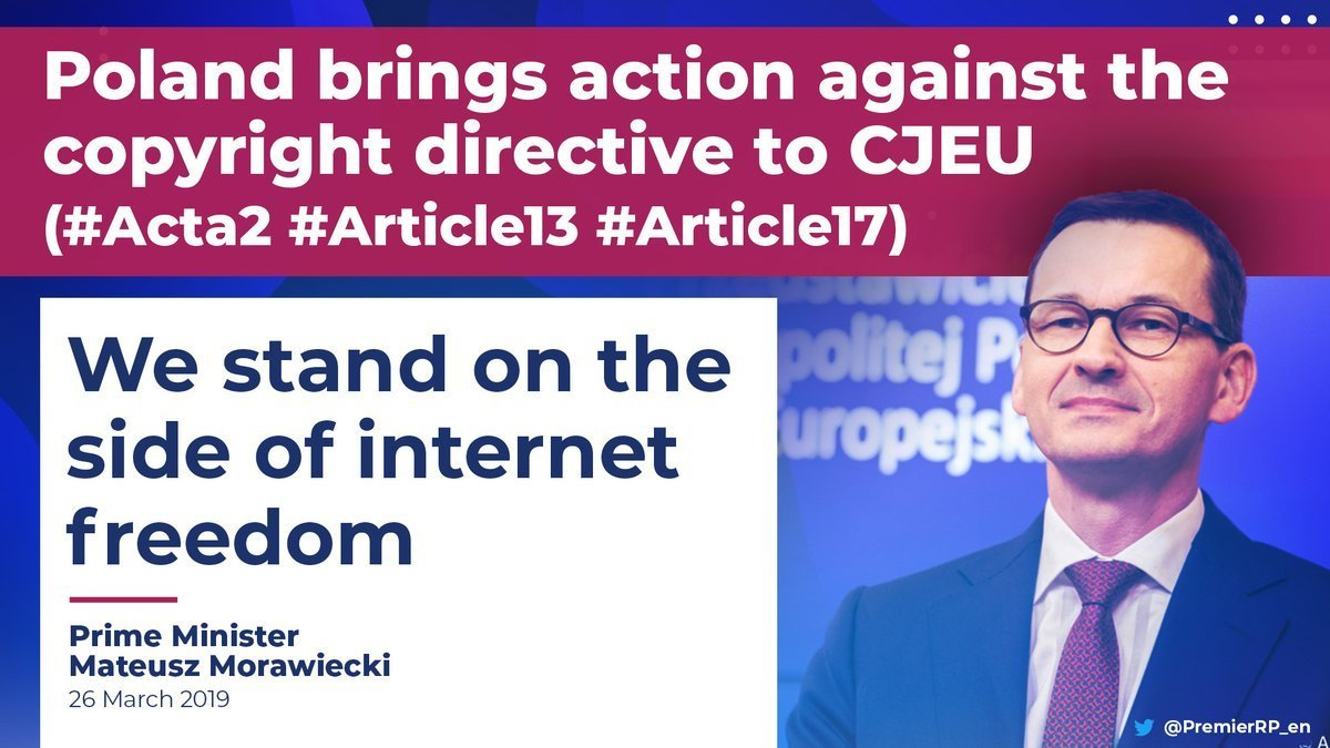 First detailed look at Poland's challenge to the EU Copyright Directive