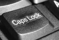 Photo of caps lock key