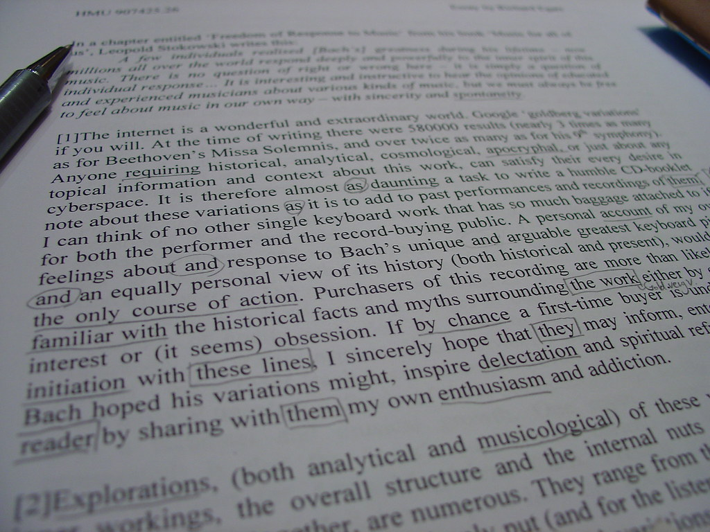 Photo of a typed essay, by dalcrose