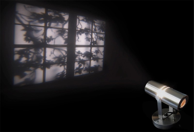 "Fancy ""ambient light"" projector creates illusion of window overlooking trees"