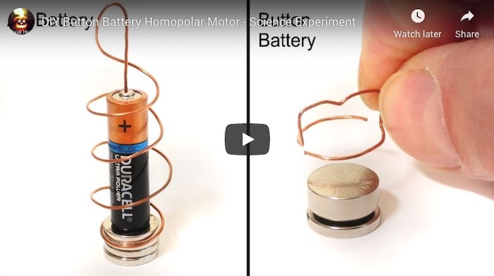 How to make homopolar motor with just a few parts