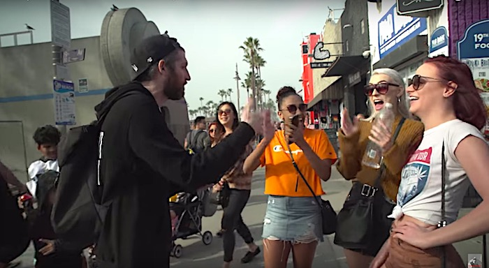 Watch: Freestyle rapper turns random words from strangers into incredible performance
