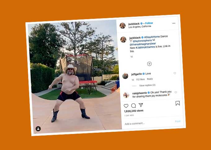 Jack Black's awesome stay-at-home dance