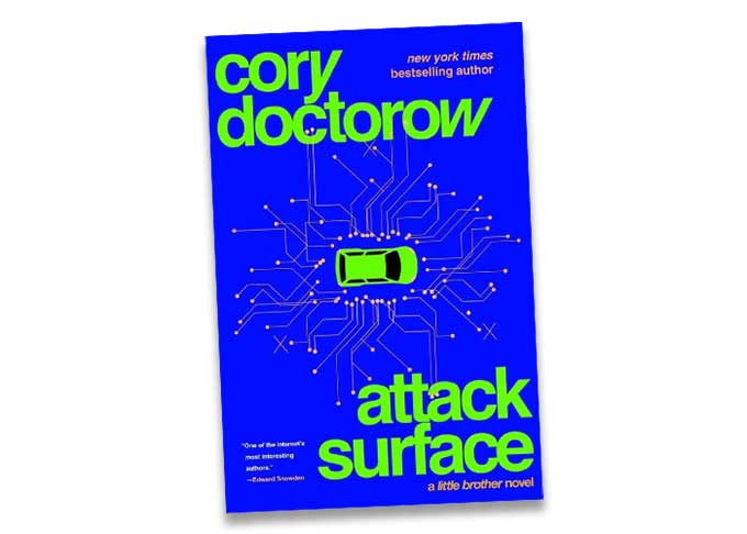 Cory Doctorow reads the author's note from his third Little Brother book, Attack Surface