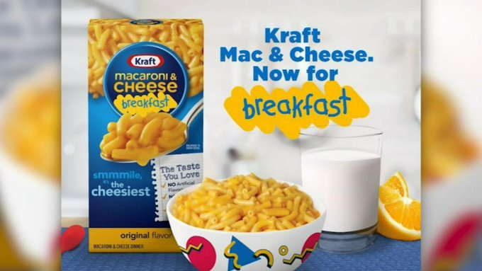 'Breakfast' macaroni and cheese coming in 2021, says Kraft | Boing Boing