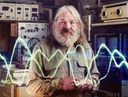 John Shepherd with alien communication equipment