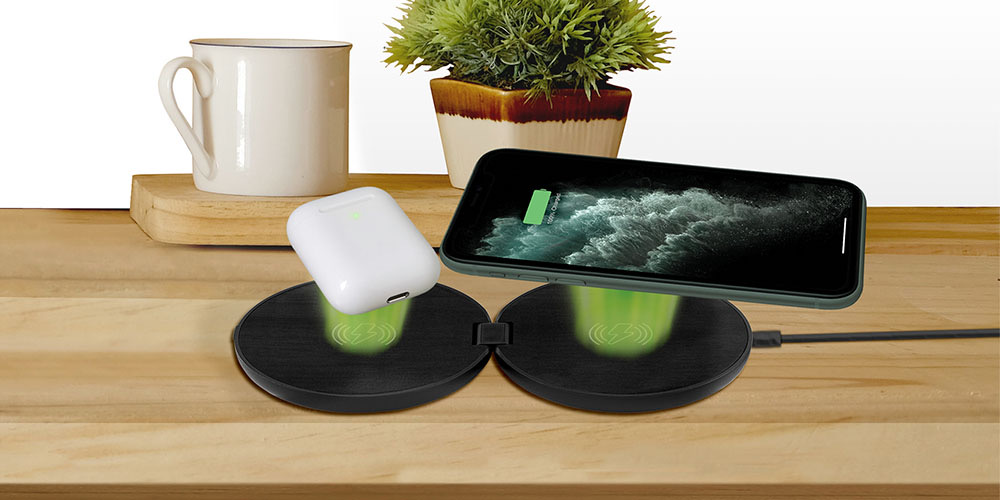 This ultra-thin, ultra-powerful wireless charging pad can fast charge two devices at once.