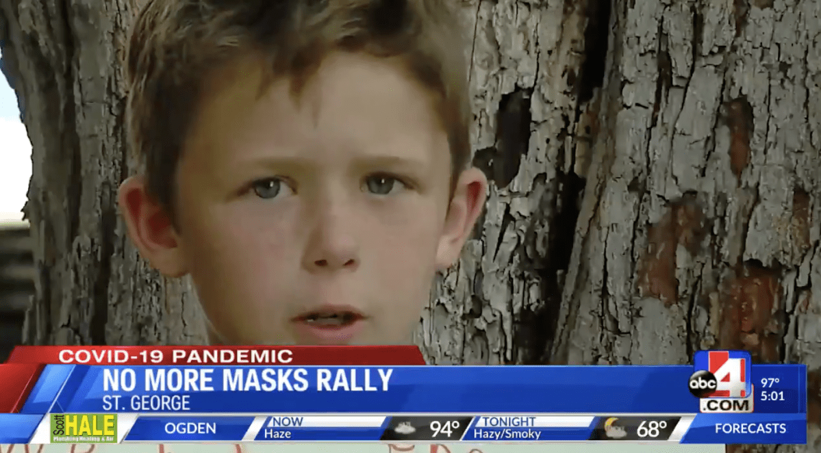 Watch this jaw-droppingly wild local news coverage of anti-mask protest in Utah | Boing Boing