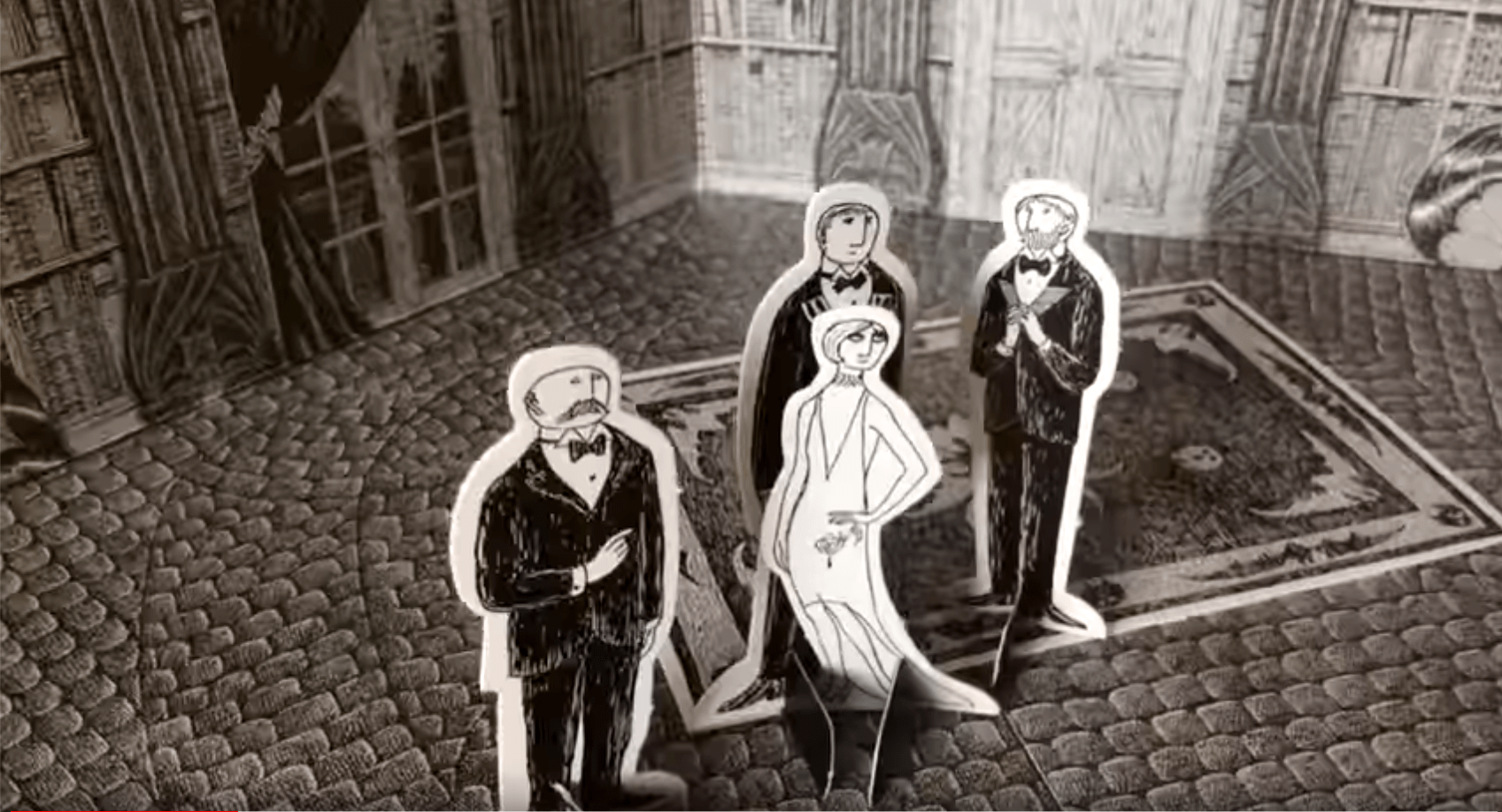 Edward Gorey's sets for the 1977 Broadway production of Dracula