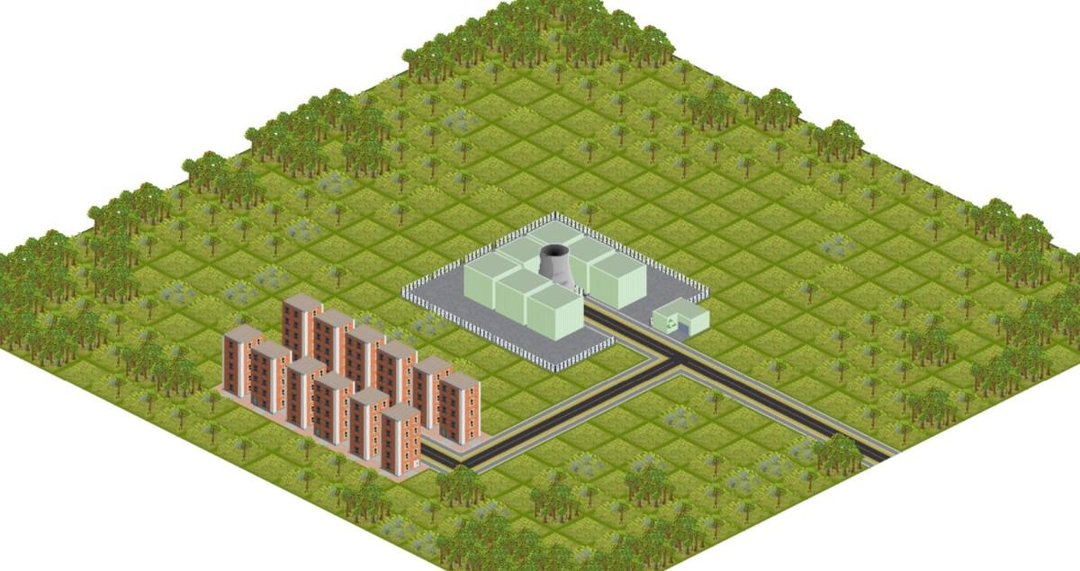 Isometric city-making toy