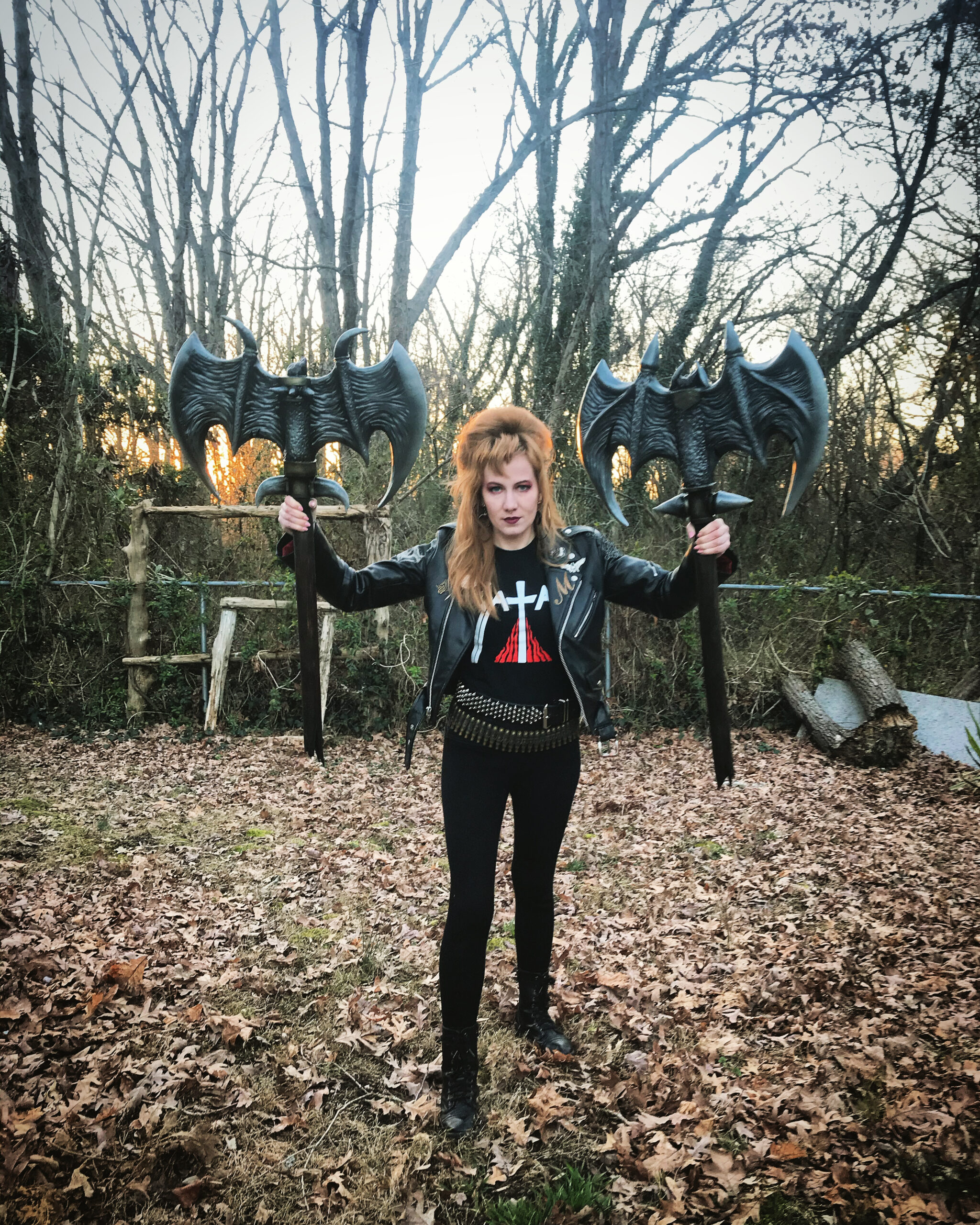 Margaret Rolicki and bat-tle axes