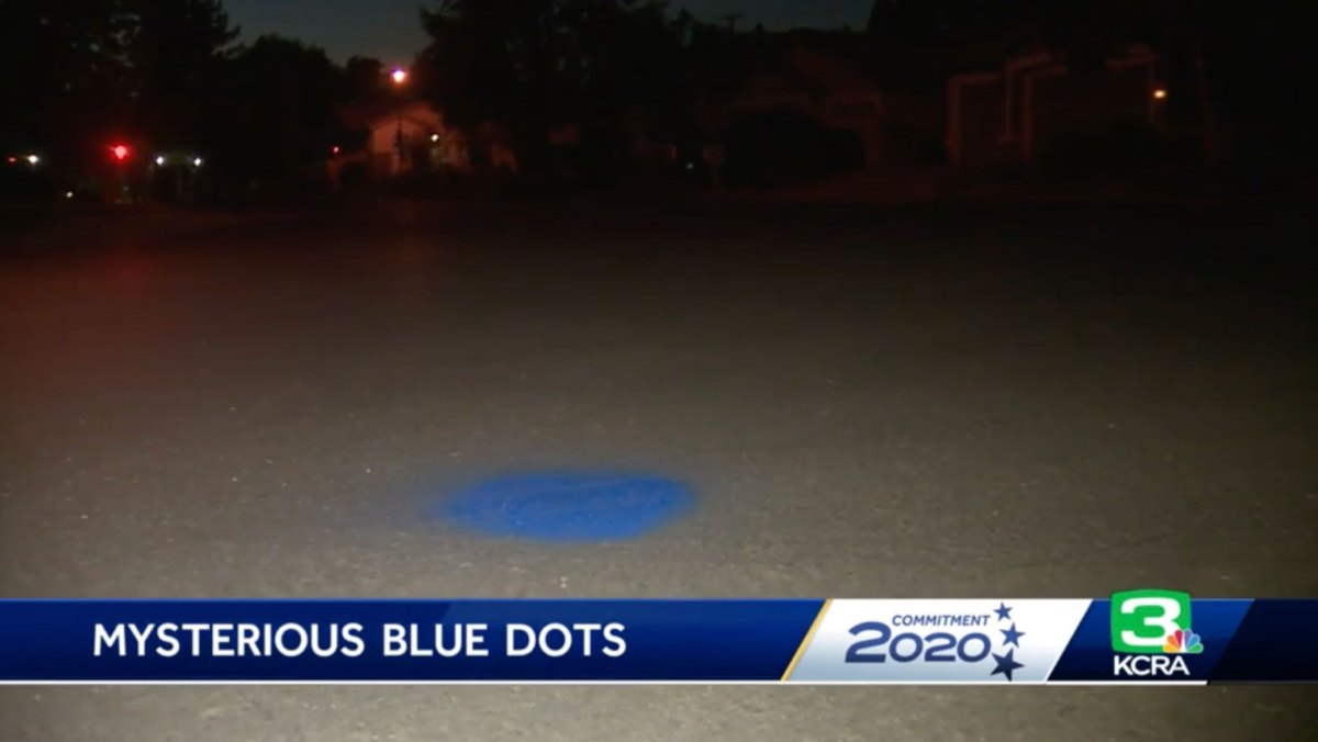 Someone is spray painting blue dots in front of houses of Biden supporters in California city   Boing Boing