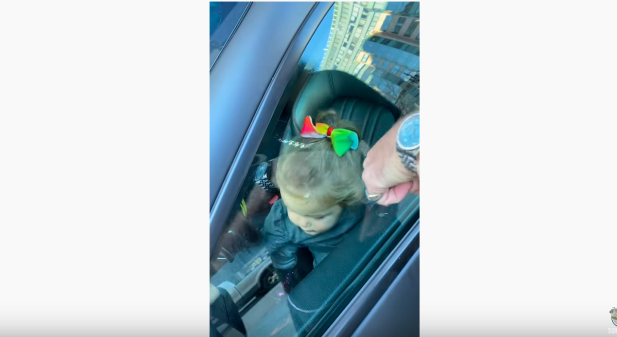 Toddler locked inside Maserati figures her way out with help from mom and dad | Boing Boing
