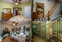 Montage of four photos of a house for sale with jail cell, from Realtor