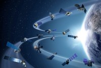 Illustration of satellites in orbit, from NASA
