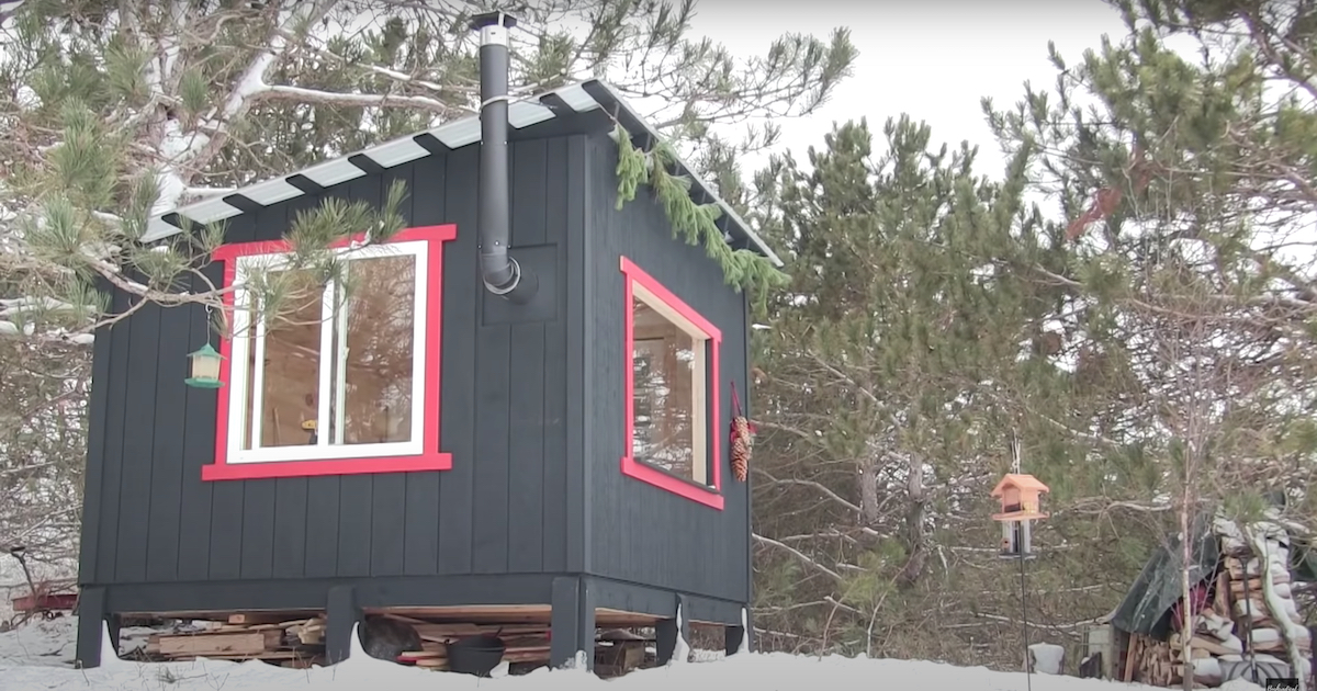 Inspiring build of a simple off-grid cabin | Boing Boing