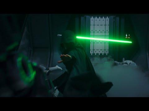 "Luke's hallway scene synced to ""I Need a Hero"" works surprisingly well"