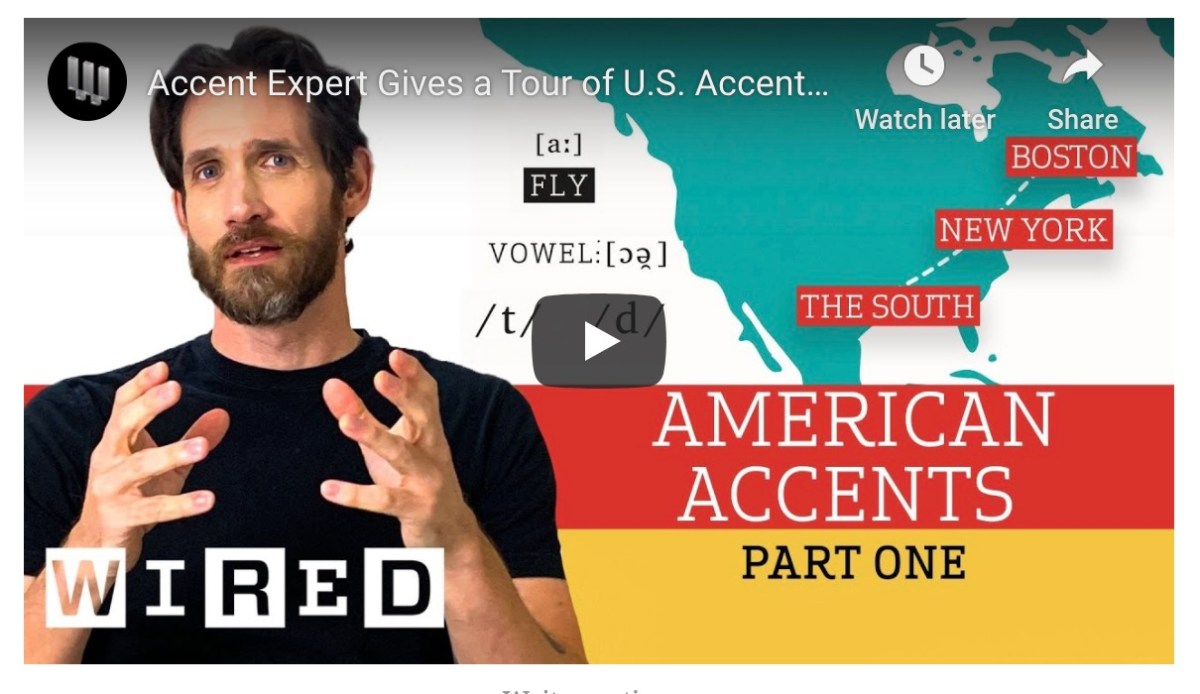 Watch this dialect coach speak in different U.S. accents | Boing Boing