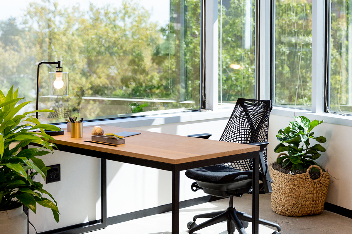 Industrious lets you use a fully-furnished modern office and only pay on the days you need it