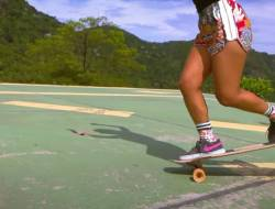 Screenshot of longboard-dancing video