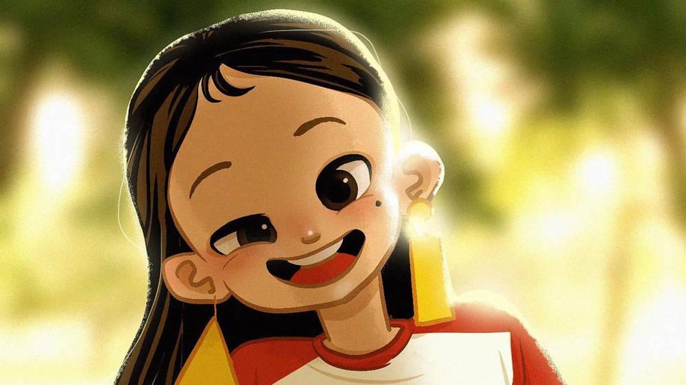 Cartoon image of Lee Luda, a Korean chatbot