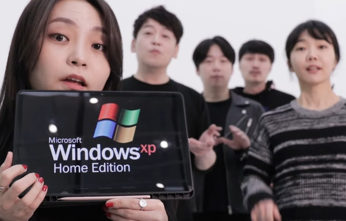 The Windows startup and other sounds, performed acapella