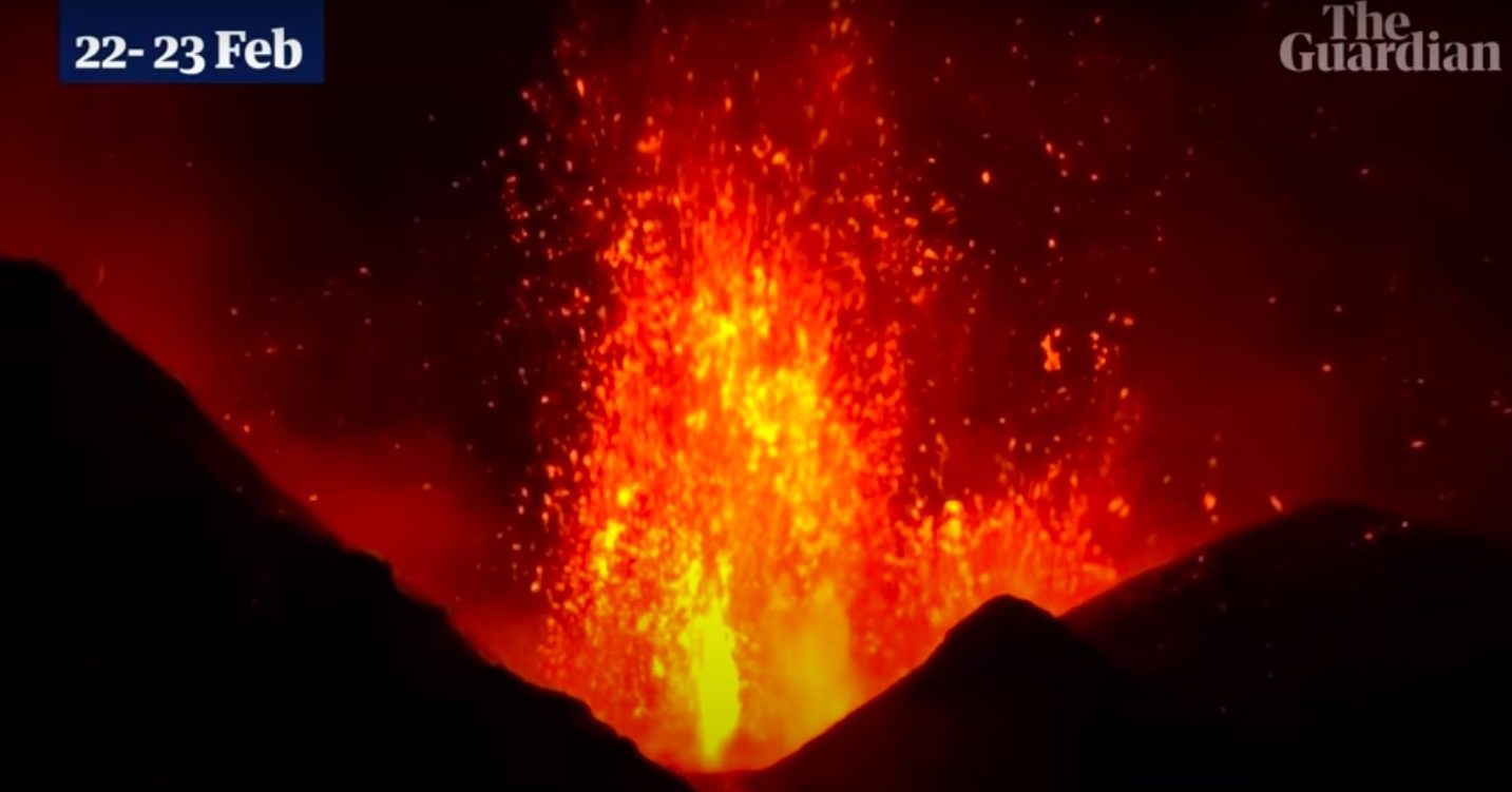 Watch the spectacular eruptions of Mount Etna, a week-long spewing lava fest