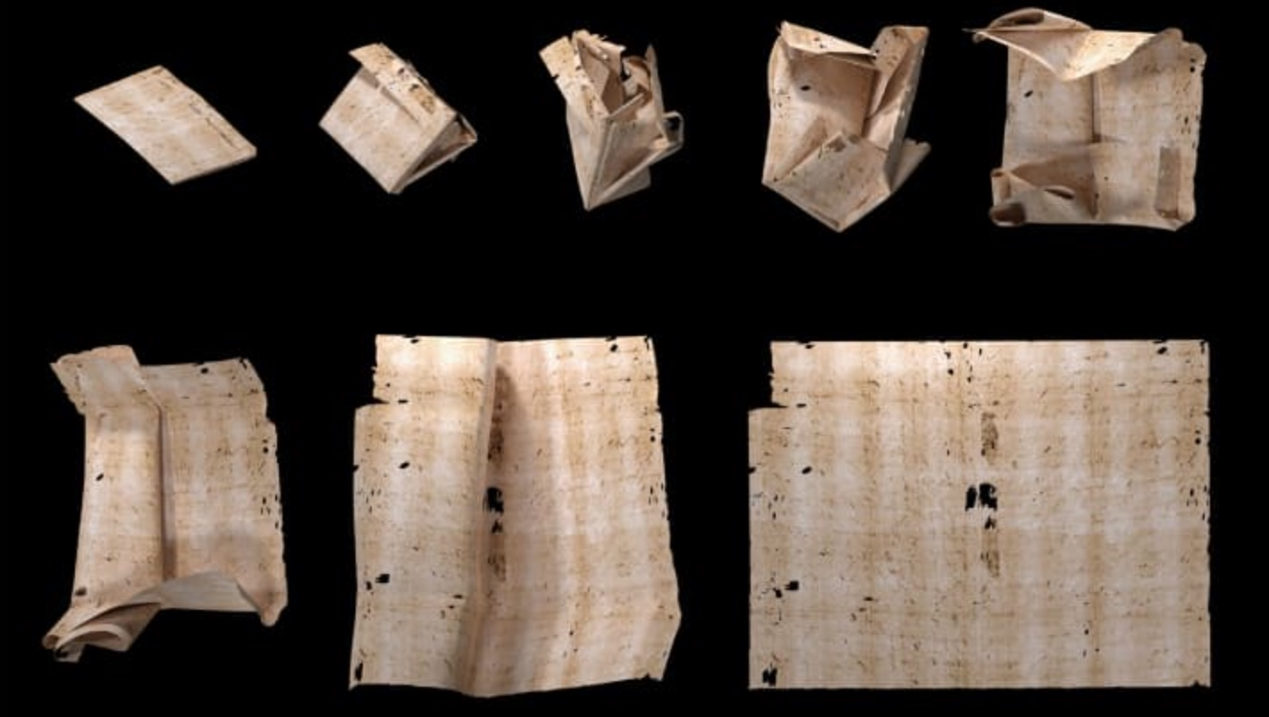 "Opening an intricately-folded ""locked"" letter from c.1700"