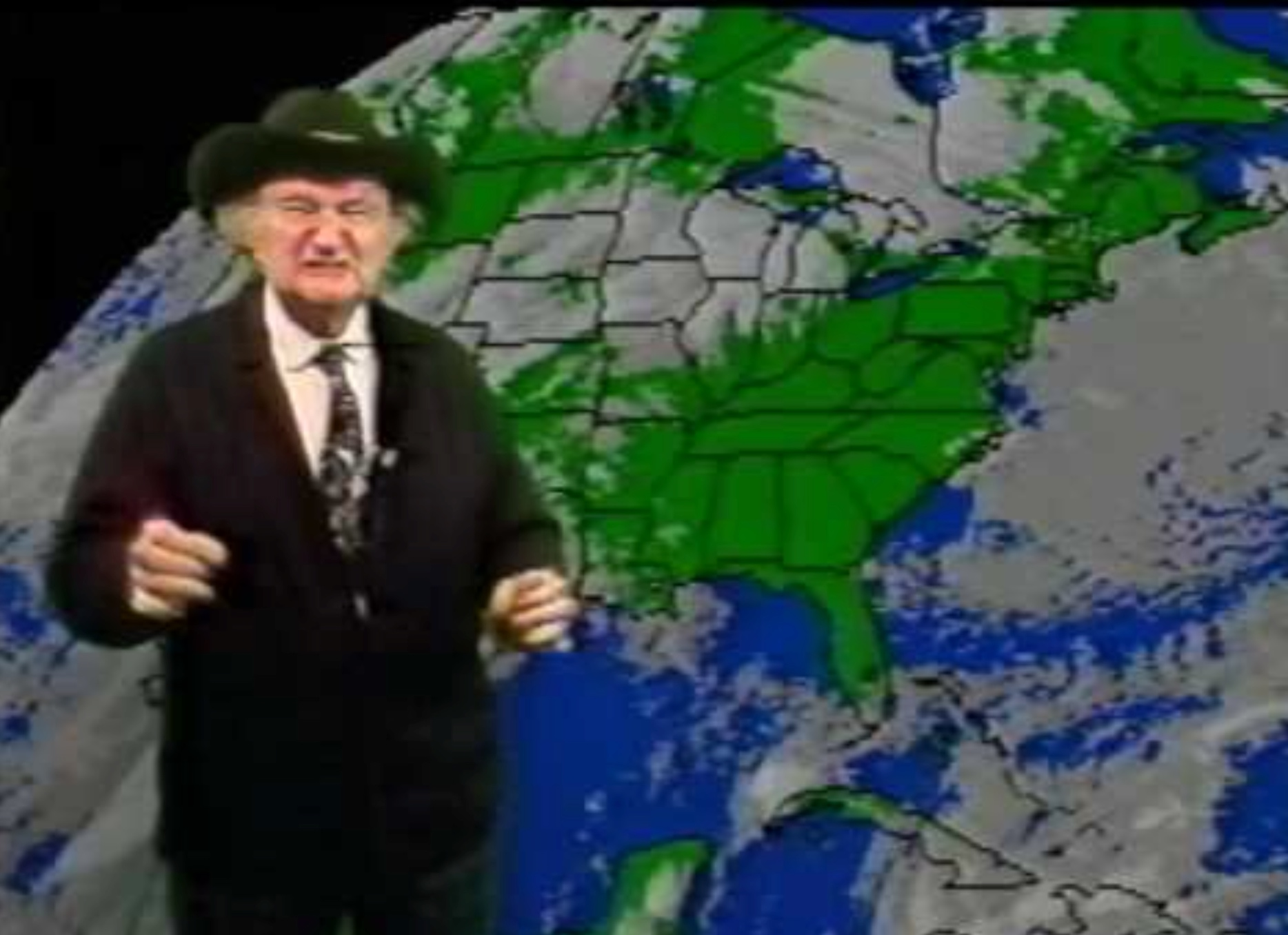 "Watch Al ""Grandpa Munster"" Lewis do a real weather report for WPIX"