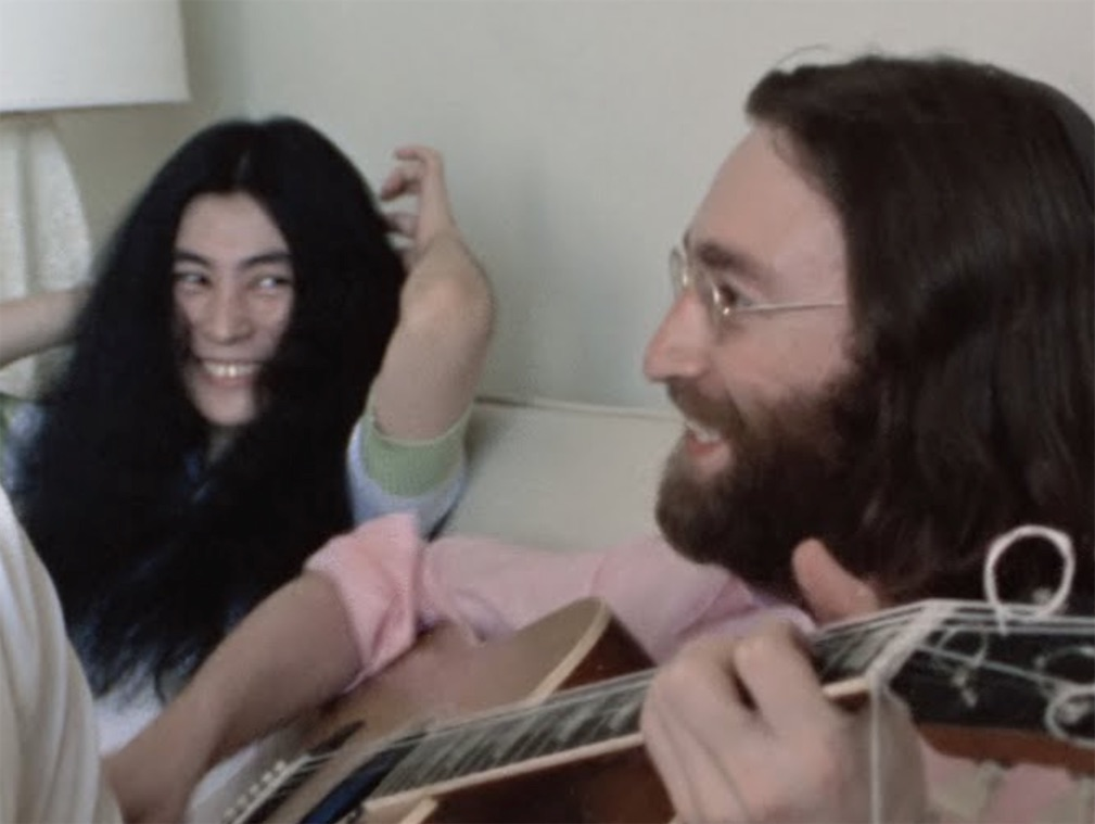 "Watch wonderful new footage of John Lennon and Yoko Ono rehearsing ""Give Peace a Chance"" 