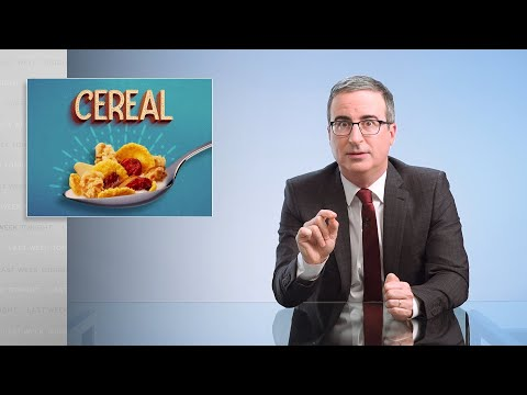 John Oliver rails on breakfast cereal marketing