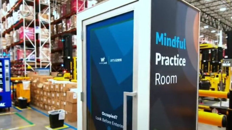 """Amazon shows off """"wellness cubicle"""" for overwhelmed staff to lock selves inside and scream"""