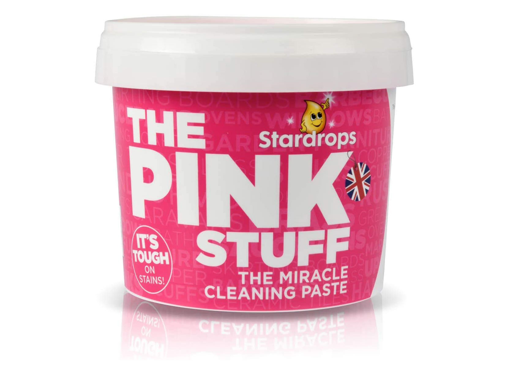 Pink Stuff Cleaning Paste works — just don't eat it