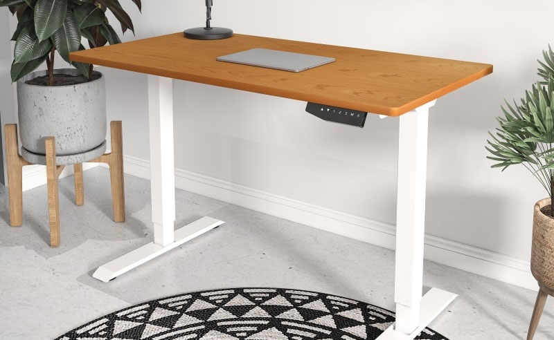 This motorized standing desk helps me draw