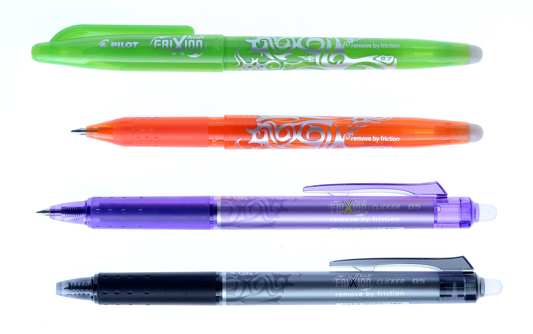 Erasable pens and highlighters
