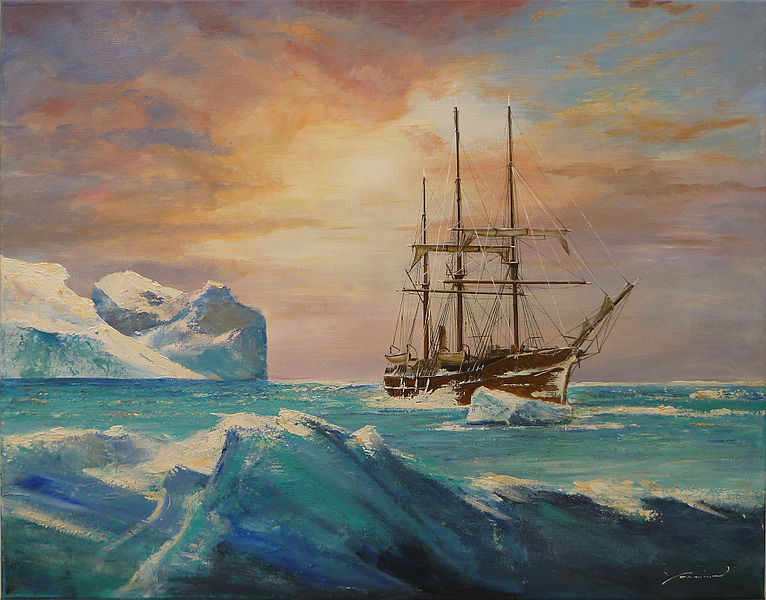 In 1898 a Belgian ship was frozen into the ice off the coast of Antarctica