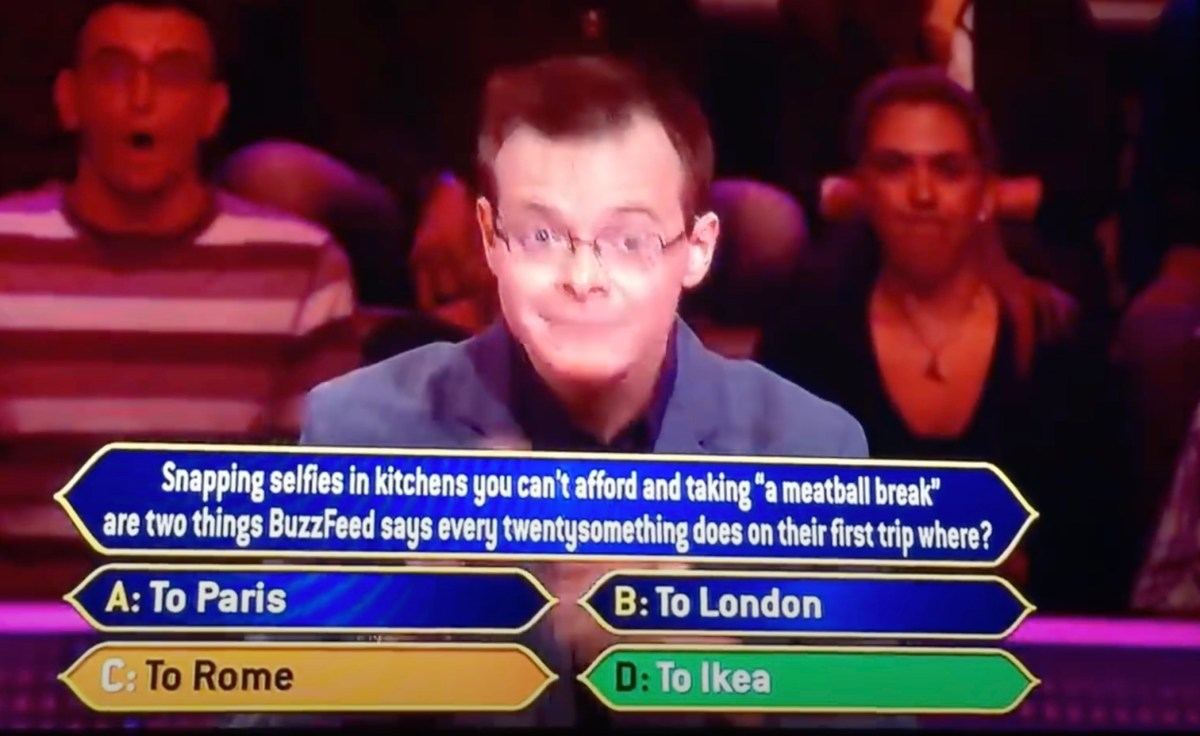 """Man boasts about being smart, gets first question wrong on """"Who Wants to Be a Millionaire?"""" 