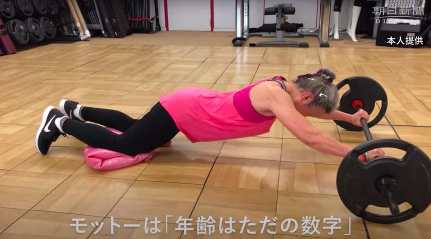 Watch an amazing 90-year-old weight trainer as she works out