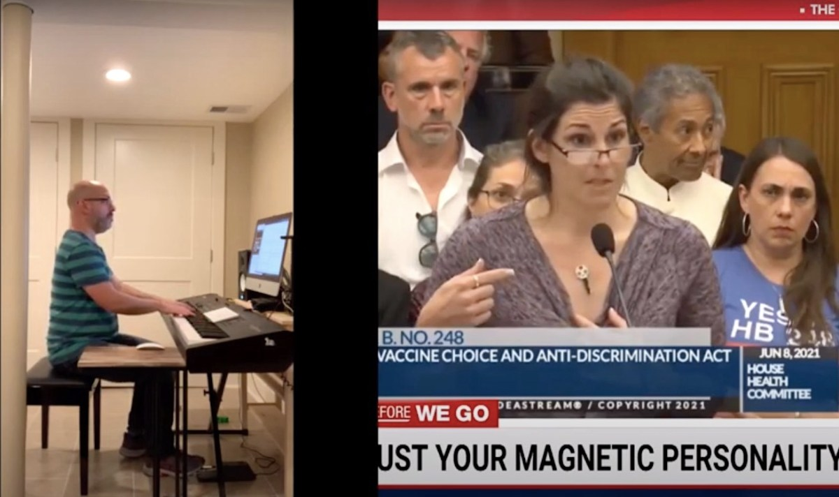 """Watch: """"Magnetic"""" anti-vax nurse sounds much better when accompanied by a piano 
